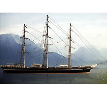 Cutty Sark, Morning in Fjord Photographic Print