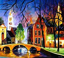 BRUGES 2 - OIL PAINTING BY LEONID AFREMOV by Leonid  Afremov