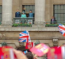 The Queen and The Duke And Duchess Of Cambridge  by John Dickson