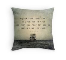 paddle your own canoe Throw Pillow