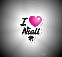 One Direction - I Love Niall iPhone/iPod case by Adriana Owens