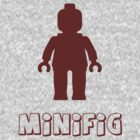Minifig [Dark Red] by Customize My Minifig by ChilleeW