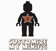 "Minifig [Black] ""Customize My Minifig"" & Star Logo by ChilleeW"