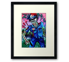 Zombie Cop (Horror Comics, Zombies) Framed Print