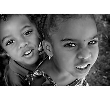 Big Sister, Little Brother Photographic Print
