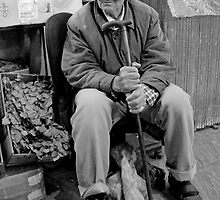 Old Man at the Market, Casablanca Morocco by Debbie Pinard