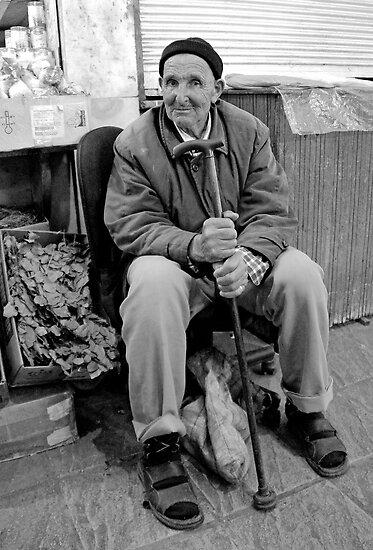 Old Man at the Market, Casablanca Morocco by Debbie Pinard