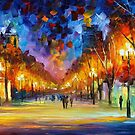 HOLIDAY  AURA - OIL PAINTING BY LEONID AFREMOV by Leonid  Afremov