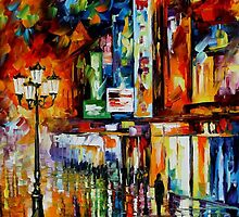THE SONG OF THE CITY - OIL PAINTING BY LEONID AFREMOV by Leonid  Afremov