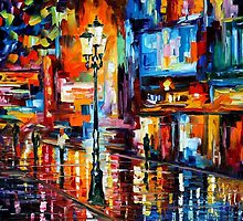 DOWNTOWN LIGHTS - OIL PAINTING BY LEONID AFREMOV by Leonid  Afremov