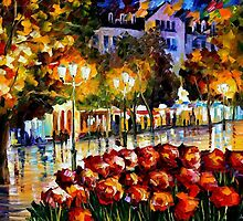 THE FLOWERS OF LUXEMBEOURG - OIL PAINTING BY LEONID AFREMOV by Leonid  Afremov