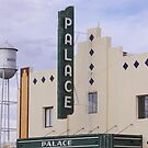 Palace Theater and Marfa Water Tower by Robert Armendariz