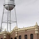Top of Old Jail and Marfa Water Tower by Robert Armendariz