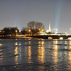 On the frozen Alster by Domenic Herberz