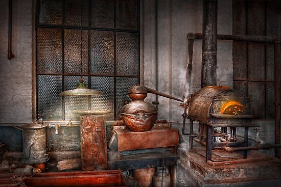 Steampunk - Private distillery  by Mike  Savad