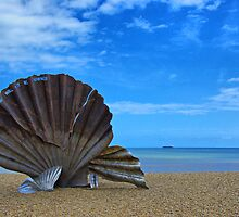 The Scallop. Aldeburgh Beach by Chris Thaxter