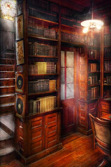 Steampunk - The semi-private study  by Mike  Savad