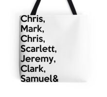The Avengers Cast Names  Tote Bag