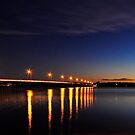The Crossing - Bribie Island Bridge by Barbara Burkhardt
