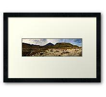 Mt Ngauruhoe pano Framed Print