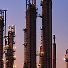 Refinery in Twilight by Peet de Rouw