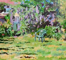 Garden in Summer, Acrylics on Canvas Board by Emily King
