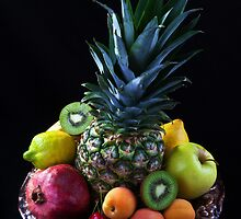 Still life of tropical fruits  by torishaa