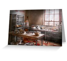 Baker - Kitchen - The commercial bakery  Greeting Card