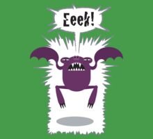 Noisy Little Terrors - 'Eeek!' cartoon character T-shirt by one-in-the-eye