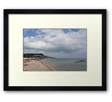 Costal View Framed Print