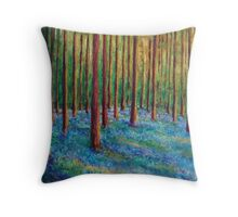 Bluebells in the Midst Throw Pillow