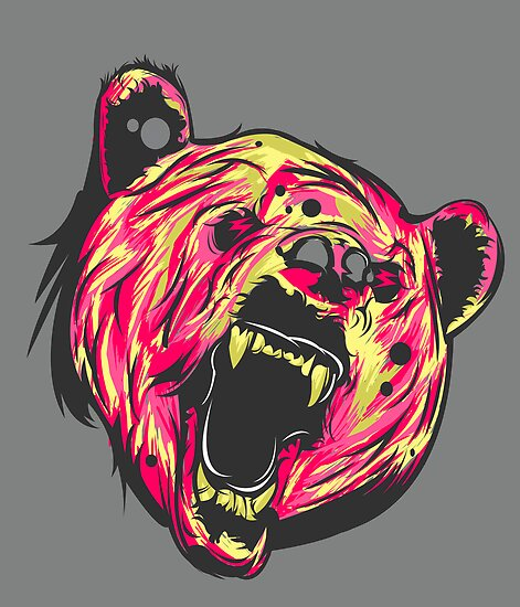 Bear Vector (Not Textured) by JosephDzn