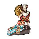 Oriental Lady Relaxing by Steve Purnell