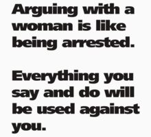 Arguing with a woman by TexTs
