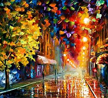 HAPPY STREET - OIL PAINTING BY LEONID AREMOV by Leonid  Afremov