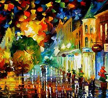 NIGHT ATTRACTION - OIL PAINTING BY LEONID AREMOV by Leonid  Afremov