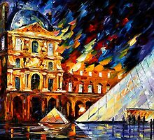 LOUVRE MUSEUM - OIL PAINTING BY LEONID AFREMOV by Leonid  Afremov