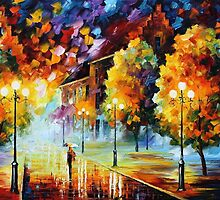 YELLOW MOOD - OIL PAINTING BY LEONID AFREMOV by Leonid  Afremov