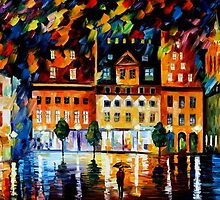 IN THE OLD CITY - OIL PAINTING BY LEONID AFREMOV by Leonid  Afremov