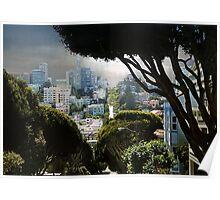 Landscape on Lombard Street, San Francisco Poster