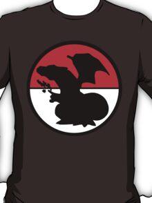 Charizard Silhouette, Pokeball  T-Shirt
