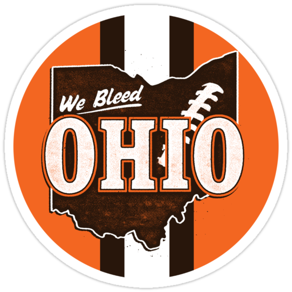 We Bleed Ohio Logo Browns - Sticker by WeBleedOhio