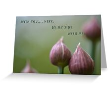 By my side! Greeting Card