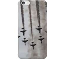 Red Arrows in Smoke iPhone Case/Skin