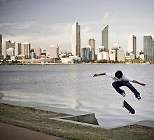 Quayde Baker, tre flip. by Luke Carl Thompson