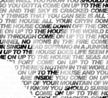 Tom Waits - Come on up to the house Sticker
