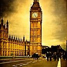 Vintage Big Ben from the Westminster Bridge by Mark Tisdale
