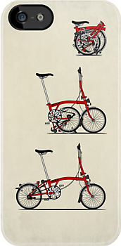 I Love My Folding Brompton Bike by Andy Scullion