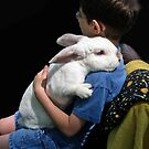 Autistic Boy And His Therapy Bunny by Bine