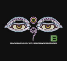 Crunk Eco Wear | Be Green Records Merch | Buddha Eyes 22 by David Avatara